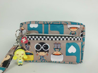 Wholesale New Cute Harajuku Lovers cosmetic bags cases with double zipper multi colors