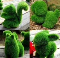 Plant Fiber artificial dogs - Grass Land Handmade Animal rabbit small dog squirrel alpaca with Artificial Turf Grass Land