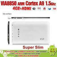 Wholesale New Arrivals inch VIA8850 GHz Android Tablet PC GB MB RAM DDR3 Capacitive HDMI PB07 X9