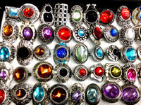 Wholesale Multicolor X Faced Resin Adjustable Rings Tibet Silver P Fashion Imixlot Jewellery A18