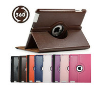 Wholesale 360 degree rotating Rotary leather case stand for iPad Pad The new iPad iPd