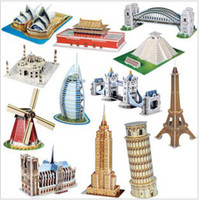 Building architectural models - Gifts For Kids D three dimensional puzzle the world renowned architectural model sets