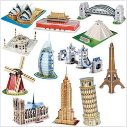 Wholesale Gifts For Kids D three dimensional puzzle the world renowned architectural model sets
