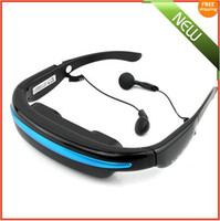 Wholesale New quot Widescreen Multimedia Player Portable Video Glasses Virtual Theatre GB Free Ship