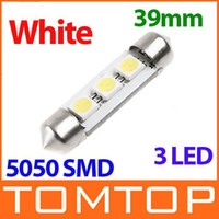 Wholesale 39mm leds SMD White light LED Car Interior light Dome Festoon Reading Lights Lamp Bulb K499