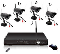 Wholesale Digtal Standalone Wireless DVR wireless with channel wired cctv camera Night vision