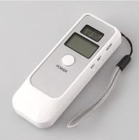 Wholesale DHL Digital alcohol breath breathalyzer tester analyzer LCD clock and alarm time function H19
