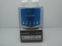 Wholesale Music Kaidaer Mini Micro SD card Speaker with FM radio Color for choose