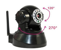 Wholesale Wireless IP Camera CCTV Audio WiFi WPA2 Mobile Phone View Audio P T Degree Free DDNS DK41