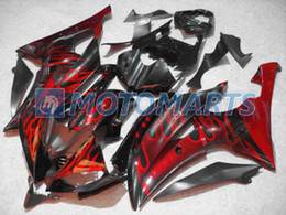 Red flame fairing kit FOR YAMAHA YZF R6 08 09 10 YZFR6 YZF-R6 2008 2009 2010 YZF600