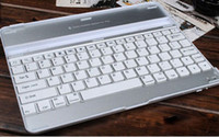 Wholesale 9 Inch Low Weight Rechargeable Bluetooth Wireless Keyboard Hard Case For iPad With FreeDHL Shipping