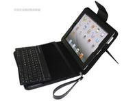 Ipad2 étui en cuir clavier France-Vente chaude de couleur en cuir sans fil Protecteur de protection clavier Bluetooth pour 2 3 iPad2 iPad3