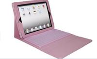Ipad2 étui en cuir clavier France-Cuir Bluetooth sans fil clavier couverture de cas pour iPad2 iPad 3 + boîtes de détail