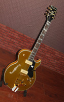 Hollow Body gold top - NEW Gold Top Hollow Body jazz Electric Guitar OEM guitar