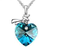 Crystal Heat Shape Necklace Fashion Classics Jewelry (6 Colo...