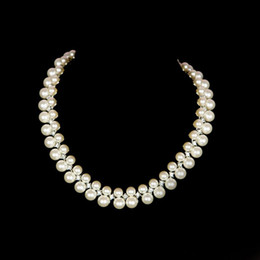 Wholesale Beautiful Jewery Pearls Sets Wedding Jewery Ornament Necklace and Earrings For Party Dresses PF021
