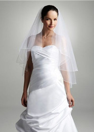 Wholesale New t Wedding Bridal elbow Satin Edge Veil with comb in stock Simple White Or Ivory Bridal Veil