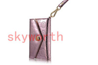 Wholesale Patent leather Deiking Case Pouch Wallet Purse for iphone S Hangbag