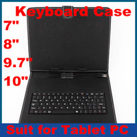 Wholesale 7 inch Leather Keyboard case suit for inch A20 Dual Core RK3188 Quad Core Ainol Pipo Onda OEM Tablet PC