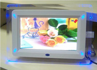 Wholesale Hot inch digital photo frame with LED light multi function support MP3 MP4