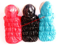 Wholesale Luxury glossy TAFFETA Very Warm Pet DOG Clothes hoodie coat coats apparel