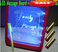 Wholesale NEWest Reusable LED Message LED Board With Stand Fluorescent Marker Pen LED Light