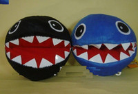 Wholesale Super Mario Brothers Chomp Plush Toy Stuffed Blue black Fluffy Chain Chomp inches