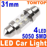 Wholesale 31mm White LED Car Interior Dome Festoon Light Reading Lamp car Decoration ceiling Bulb K503