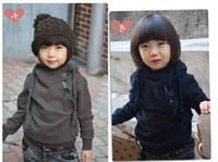 100-110-120-130-140 autum coats - Children Boys Hoodied Sweater Oblique Diagonal Zipper Navy Gray Winder Autum Warm Fashion Coat