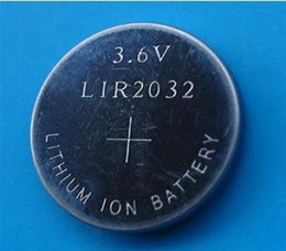 1000pcs Lot, 3.6v LIR2032 rechargeable button battery, li-ion coin cell batteries