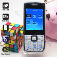 Wholesale e71 Mini Car Mobile Phone TV dual sim cards standby with mp3 WEIL