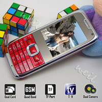 Wholesale TV Mini Cellphone E71 dual sim cards standby with mp3 camera FM WEIL