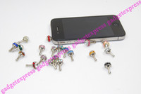 Wholesale Bird s Nest Shape mm Anti Dust Crystal Earphone Jack Plug Stopper Cap for iPhone