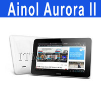 Wholesale 2012 Aurora II Dual core Ainol Novo Android ICS Tablet PC Aurora GB Free Headphones