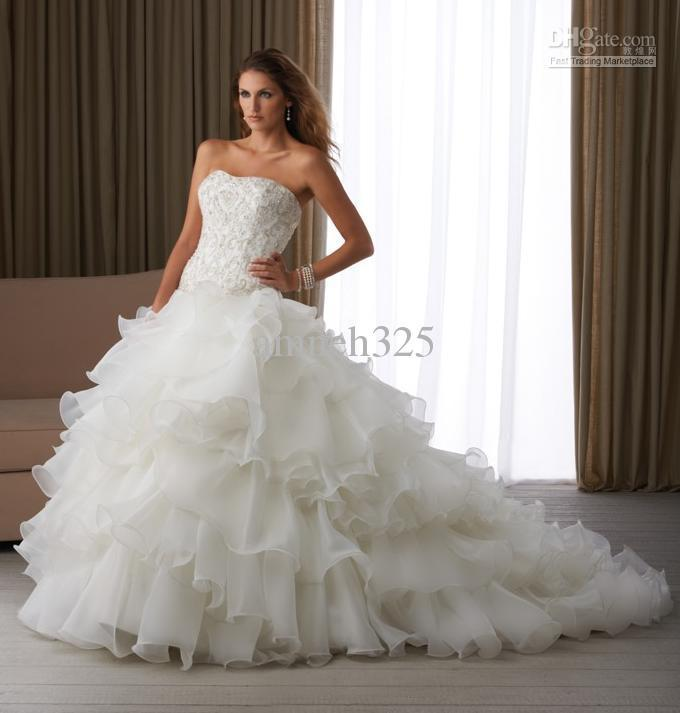 Beautiful White Dresses Strapless Wedding - Mother Of The Bride ...