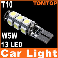 Wholesale T10 W5W White SMD LED Car Side Wedge Light turn signal Lamp parking corner light Bulb Decode K509