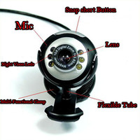 Wholesale USB M LED PC Laptop Video Web Cam Webcam Mic