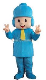 100% real photos adult size blue pocoyo mascot costume Cartoon Mascot Costumes for Kids Birthday Party Deguisement Mascotte Custom Mascots