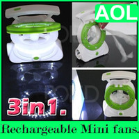 Wholesale Mini in Students charge rechargeable emergency light fan table lamp fan