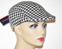 Wholesale Cotton Peaked Beret Newsboy Visor Hat Cap Cabbie beret Gatsby Flat Cap Hat grid