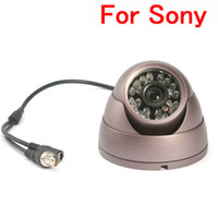Wholesale 1 For Sony CCD TVL Metal Conch shaped IR LED Indoor Security Camera Purple