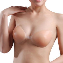 Wholesale 2013 Summer Cheap Nude Strapless Backless Invisible Self Adhesive Silicone Breast Bra Pad Cups
