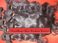 Wholesale Brazilian Virgin quot Hair Weft Weave Natural Color Human Remy Hair Wavy Retail g ps Discount