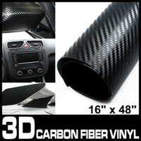 Wholesale 3D Texture carbon fiber Wrap vinyl Sheet Decal Black quot x quot cm x cm
