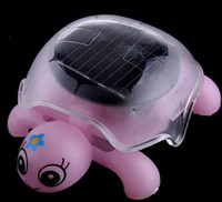 Wholesale Mini Solar Educational Toy Little Tortoise Solar powered Turtle with solar panel for Kids Funny Toy
