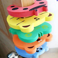 Wholesale Children cartoon haped cute Baby Door Stopper Safety Finger Guard Protector