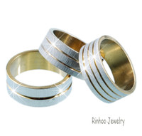 Middle Eastern Men's Engagement Promise Rings Mix Styles Size 17#-20# 36pcs box Stainless Steel Korea Rings Packed Ring Box #20894