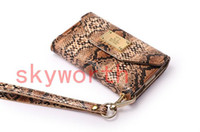 Wholesale Deiking Snake Leather Case Pouch Wallet Purse Handbag Card Slot for iphone S