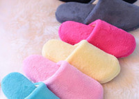 Wholesale wollen cotton slipsole bobouche slippers
