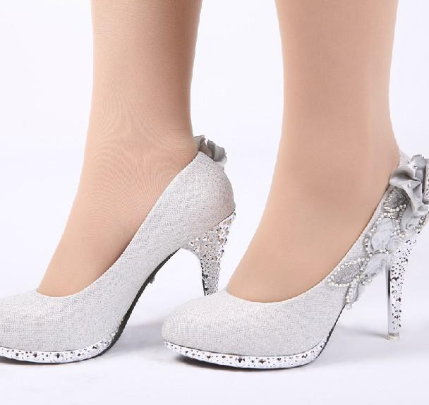 Solid Color Beaded Wedding Shoes Party Shoes Bridal Wedding Shoes ...